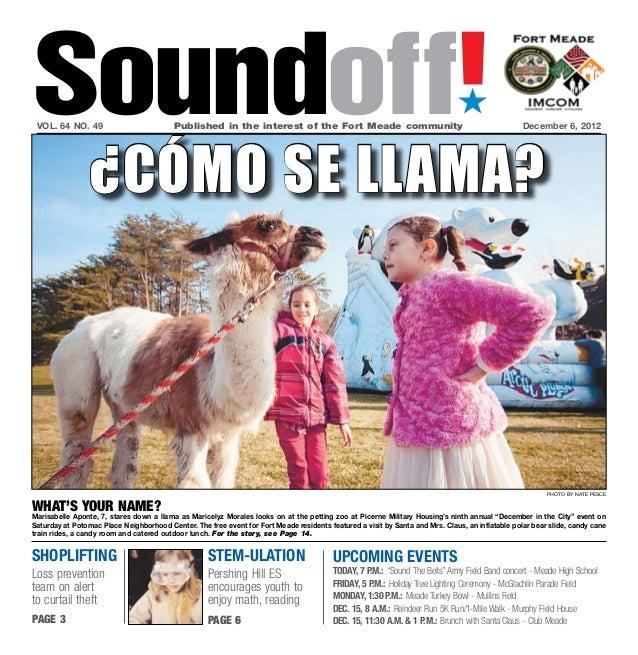 Fort meade soundoff 'Dec. 6, 2012