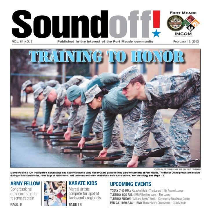 Fort Meade SoundOff for Feb. 16, 2012