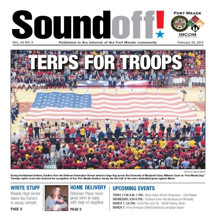 Soundoff! vol. 64 no. 8                           Published in the interest of the Fort Meade community                   ...