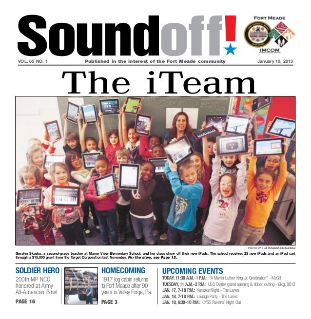 Soundoff! vol. 65 no. 1	                        Published in the interest of the Fort Meade community	                    ...