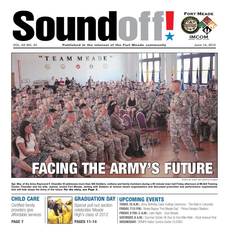 Soundoff! vol. 64 no. 24                          Published in the interest of the Fort Meade community                 ...