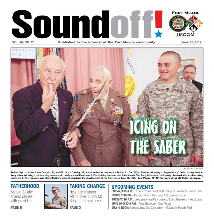 Fort Meade SoundOff for June 21, 2012