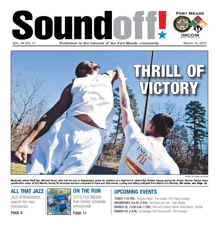 Soundoff! vol. 64 no. 11                           Published in the interest of the Fort Meade community                ...