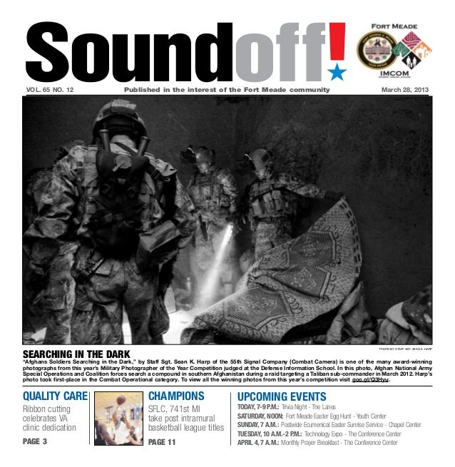 Soundoff! vol. 65 no. 12 	                    Published in the interest of the Fort Meade community	                      ...