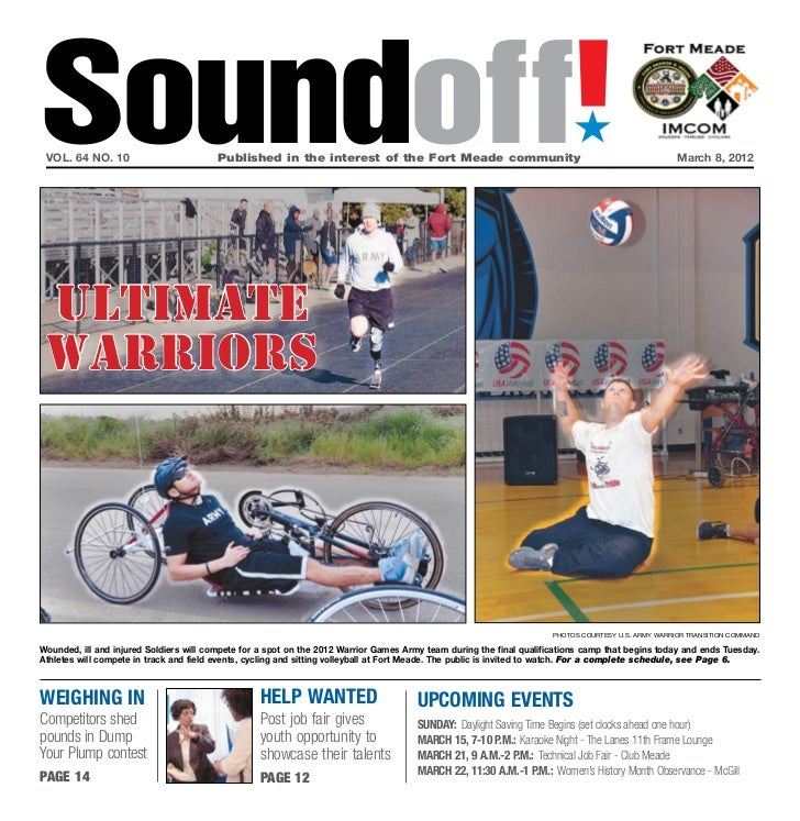 Soundoff! vol. 64 no. 10	                         Published in the interest of the Fort Meade community	                  ...