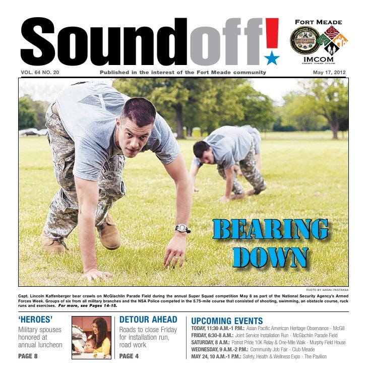 Soundoff! vol. 64 no. 20                         Published in the interest of the Fort Meade community                  ...