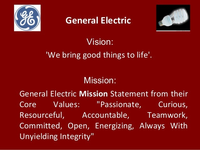 General Electric Case Study