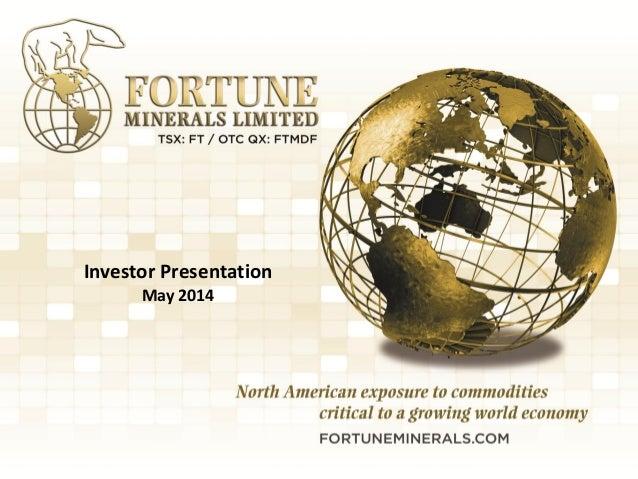 Fortune investor presentation2014