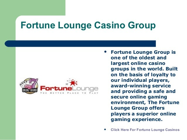 Fortune Lounge Casino Group Offer Large Progressive Jackpots