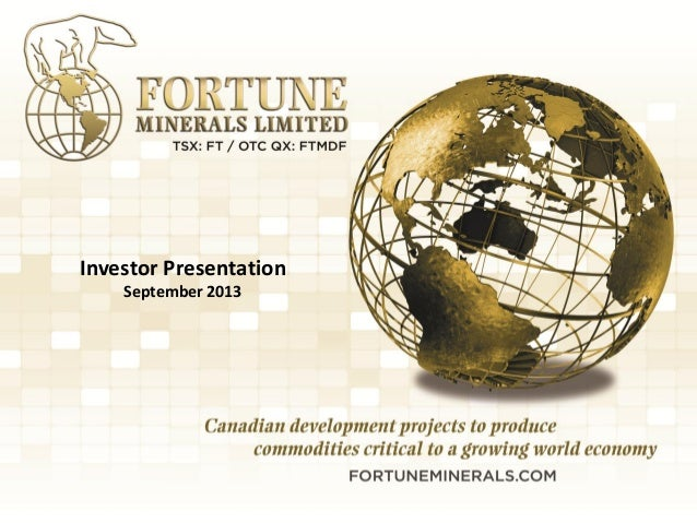Fortune Minerals presentation sep13