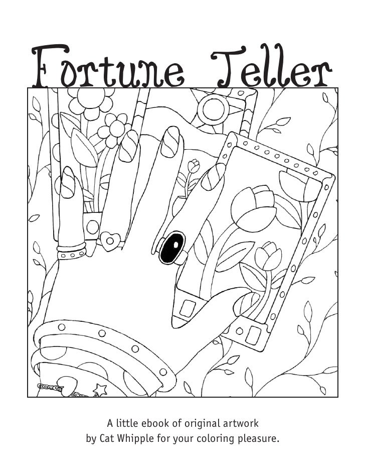Fortune Teller           A little ebook of original artwork   by Cat Whipple for your coloring pleasure.