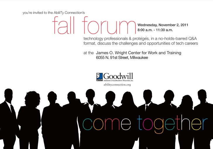 AbilITy Connection Fall Forum evite 11-2-11