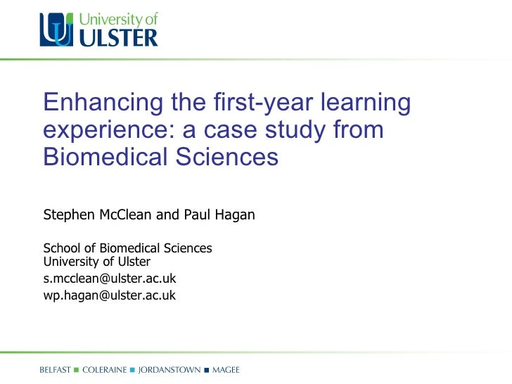 Enhancing the first-year learning experience: a case study from Biomedical Sciences
