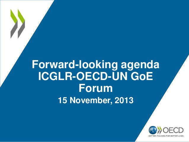 Forward-looking agenda ICGLR-OECD-UN GoE Forum 15 November, 2013