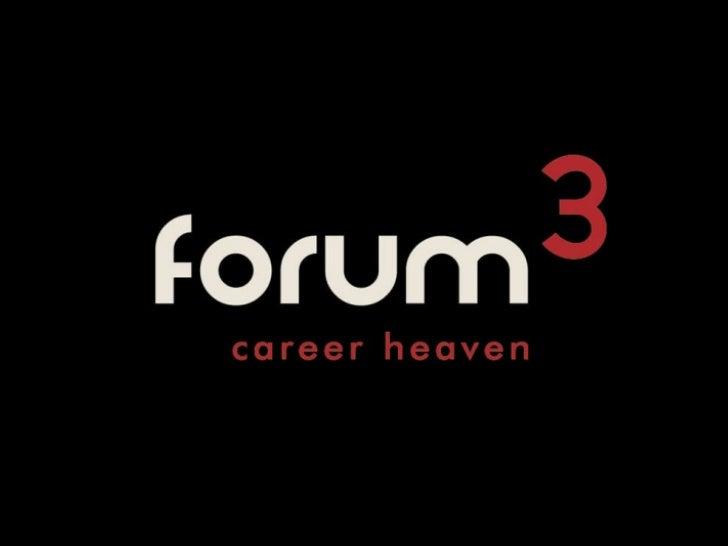 Forum3 2012 presentation