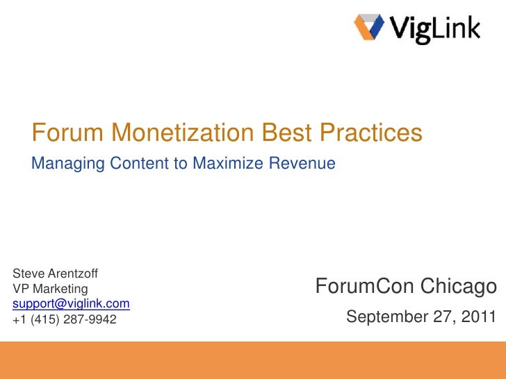 Forum Monetization Best Practices