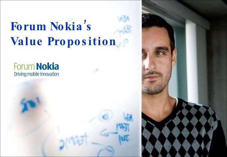 Forum Nokia's Value Proposition