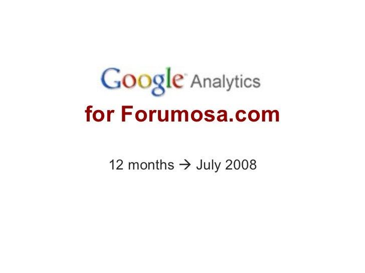 Forumosa Site Statistics July 2008
