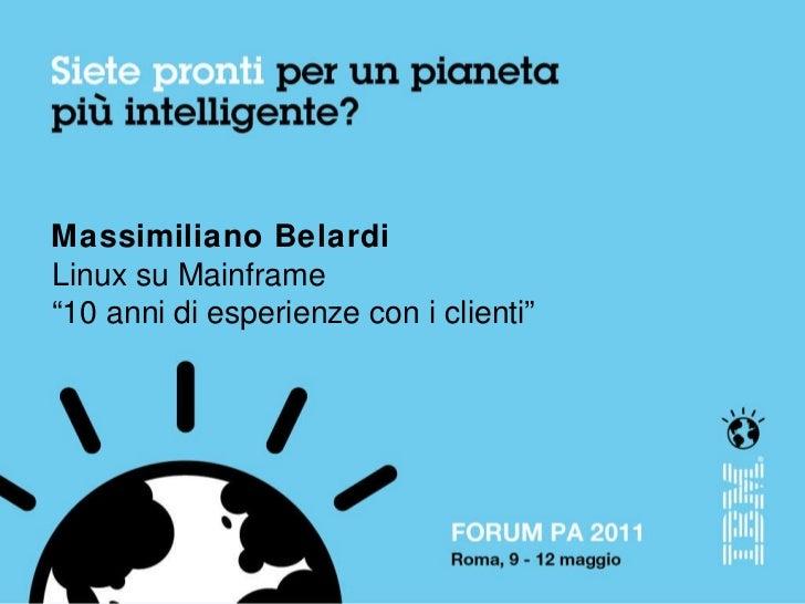 Focus Group Open Source 09.05.2011 Massimiliano Belardi