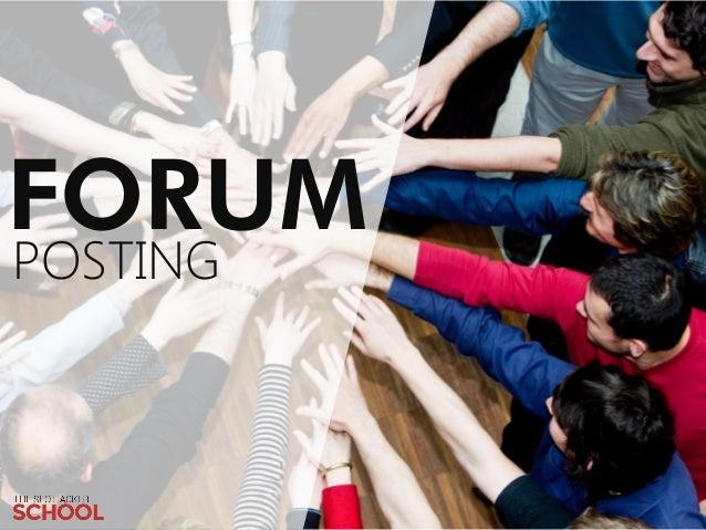 Forum Posting (public)