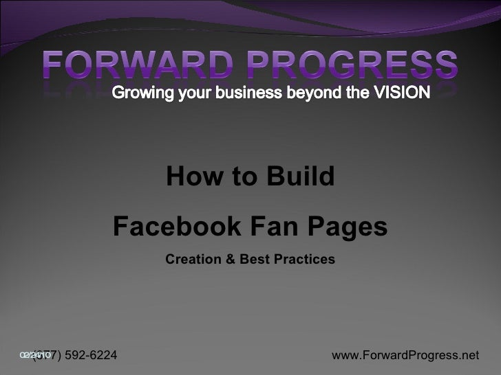 Forward Progress   How To Build The Optimal Fan Page   Comp