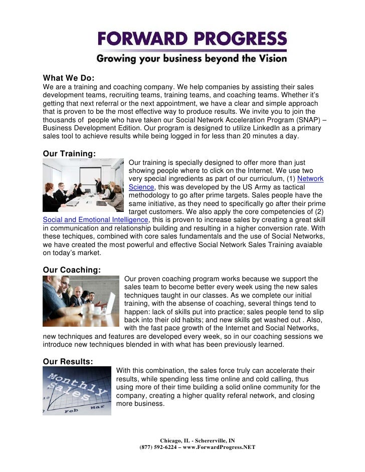 Forward Progress Social Network Training & Coaching