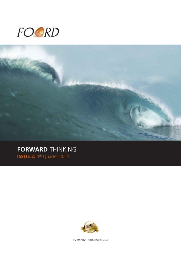 Forward thinking quarter 4 2011