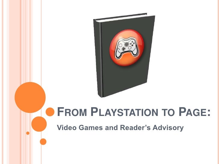 Video Games and Reader's Advisory