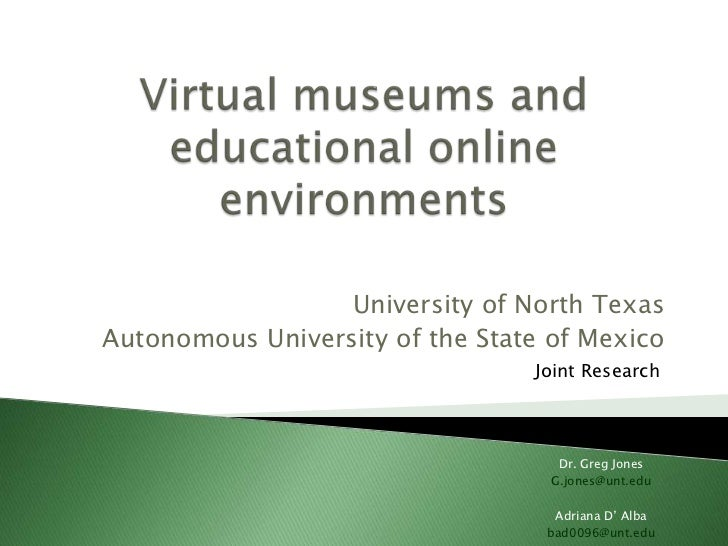 University of North TexasAutonomous University of the State of Mexico                                 Joint Research      ...