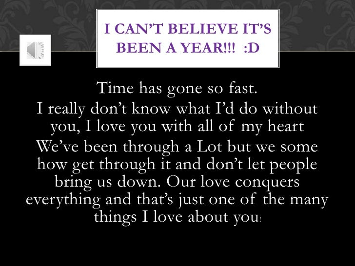 Quotes About Love 1 Year Anniversary : ... Year Anniversary My Love For you babe -- happy 1 year anniversary