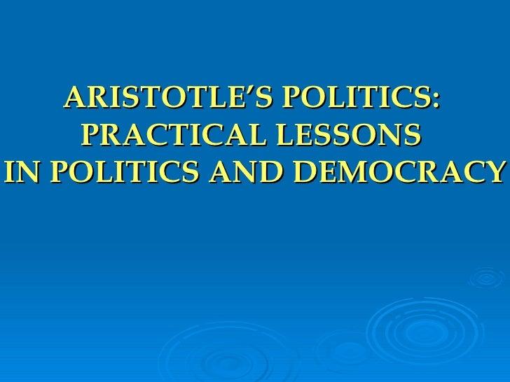 Aristotle's Politics (Lessons)