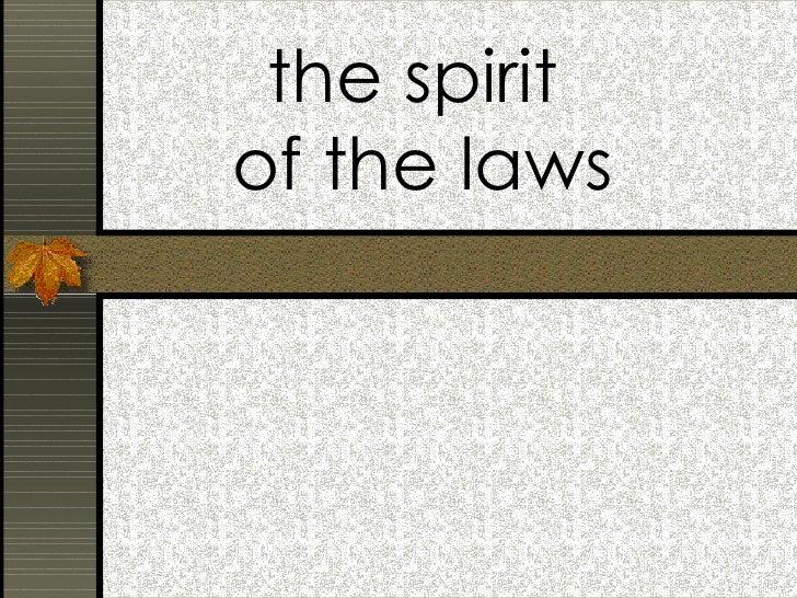 Spirit of the Laws (Montesquieu)