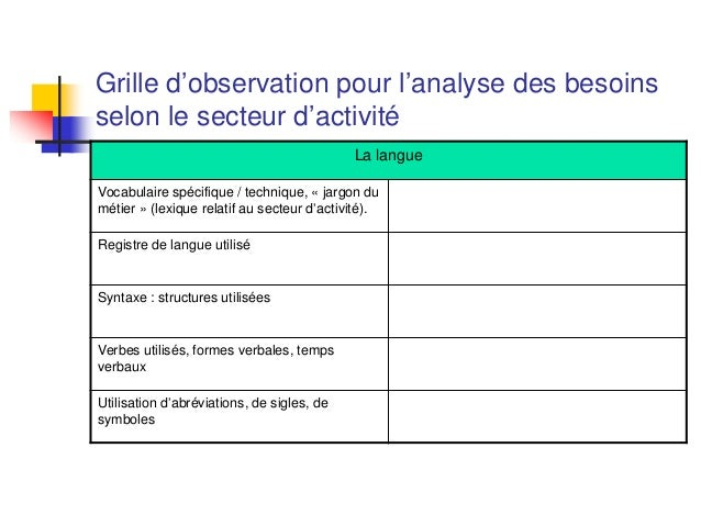 Fos 2014 - Grille d observation du comportement ...