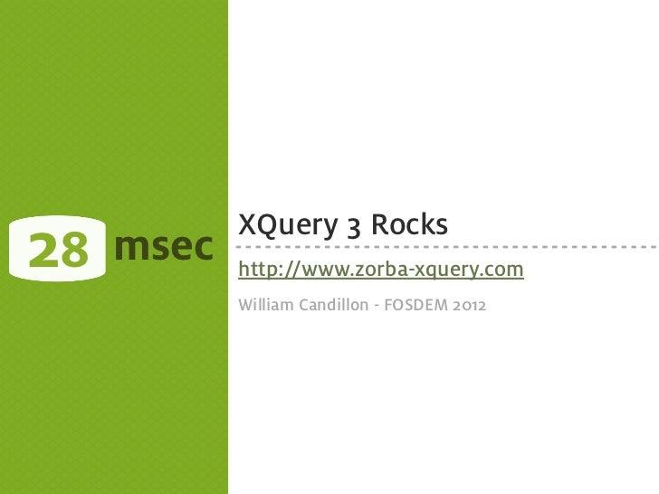 XQuery Rocks