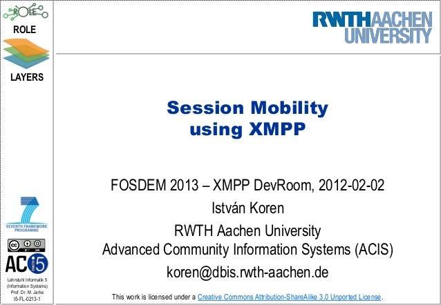 FOSDEM: Session Mobiliy using XMPP
