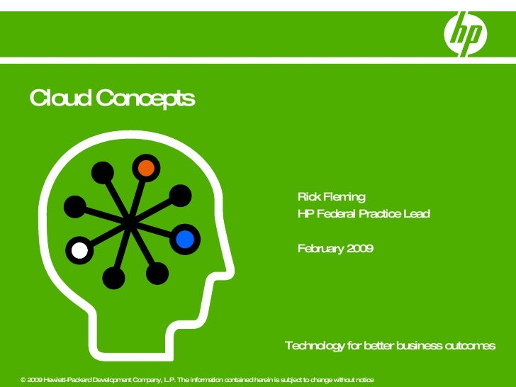 Rick Fleming HP Federal Practice Lead February 2009 Cloud Concepts