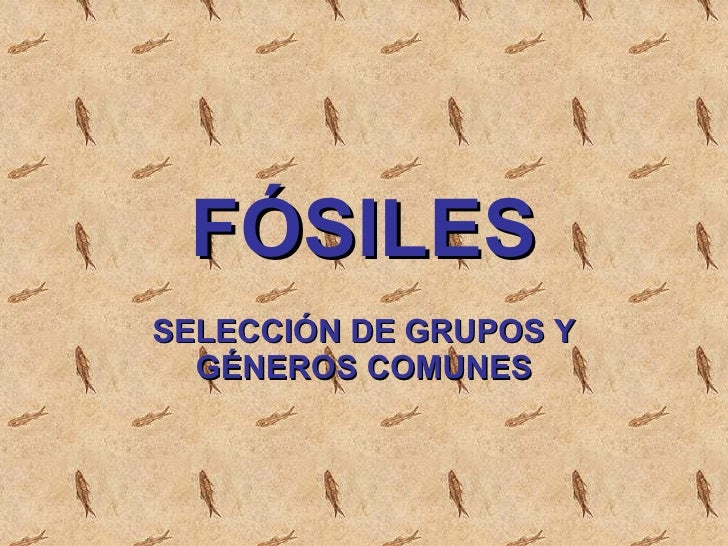 Fosiles. Fossils