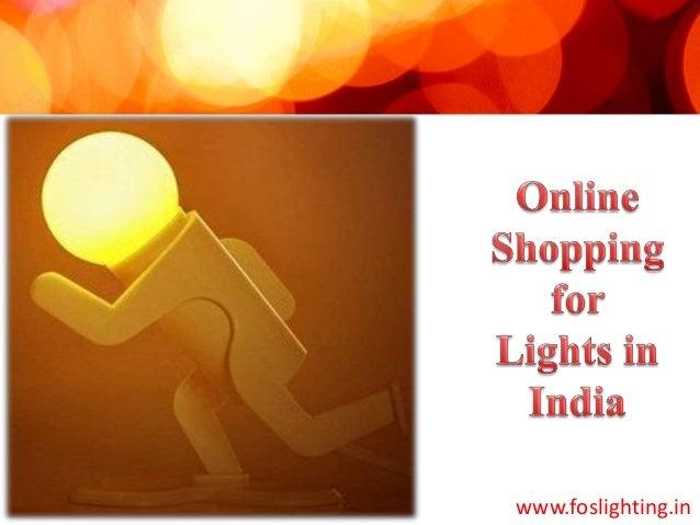 online lights shopping