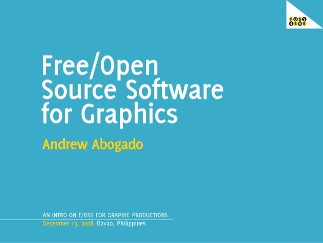 Free Open Source Software For Graphics