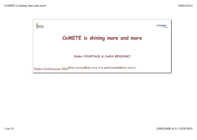 CoMETE is shining more and more                                                                                          F...