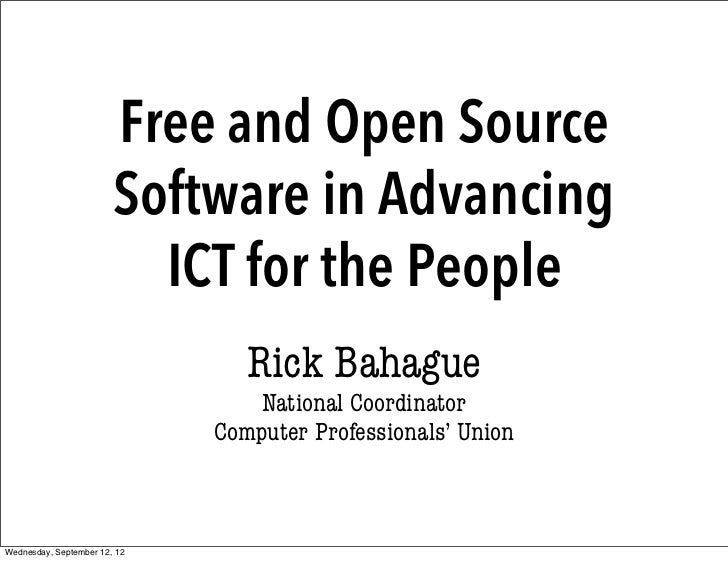 Foss and ict for the people