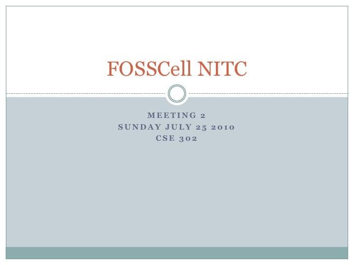 FOSSCell NITC