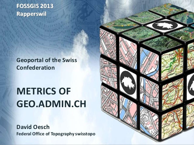 FOSSGIS 2013RapperswilGeoportal of the SwissConfederationMETRICS OFGEO.ADMIN.CHDavid OeschFederal Office of Topography swi...