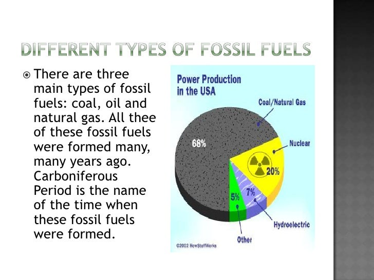 Oil Coal And Natural Gas Are Types Of