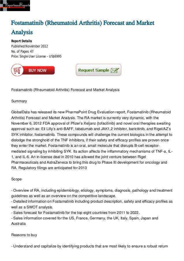 Fostamatinib (Rheumatoid Arthritis) Forecast and MarketAnalysisReport Details:Published:November 2012No. of Pages: 47Price...