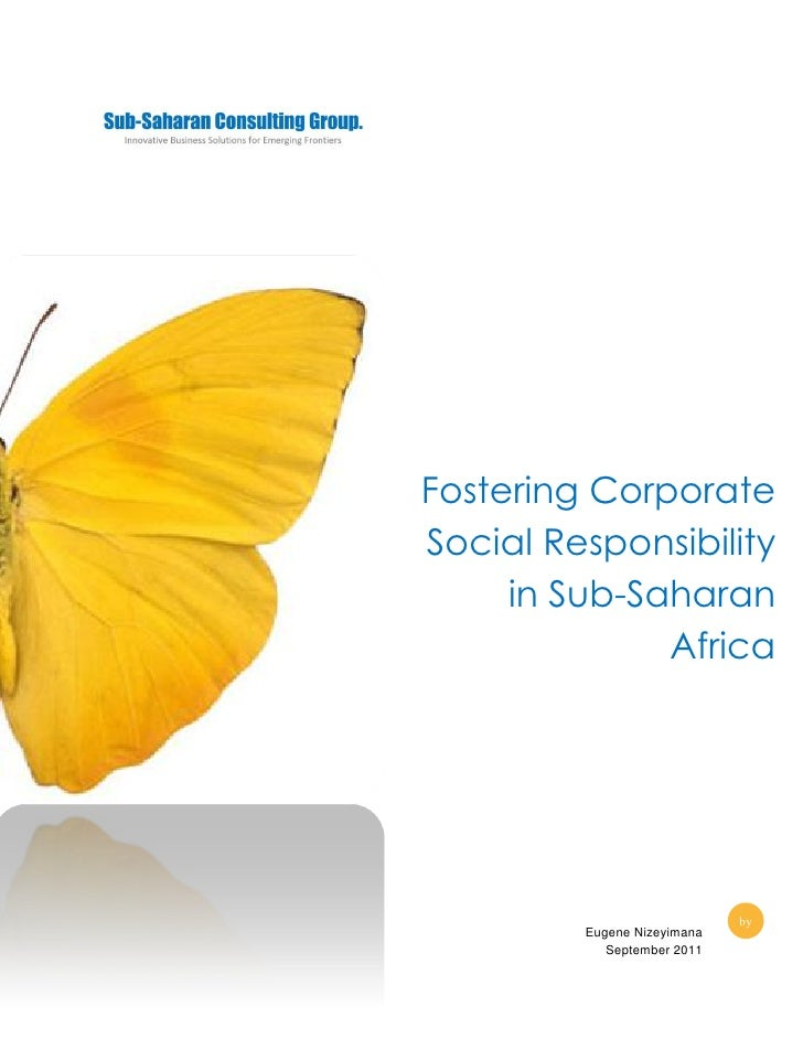 Fostering corporate social responsibility in sub saharan africa