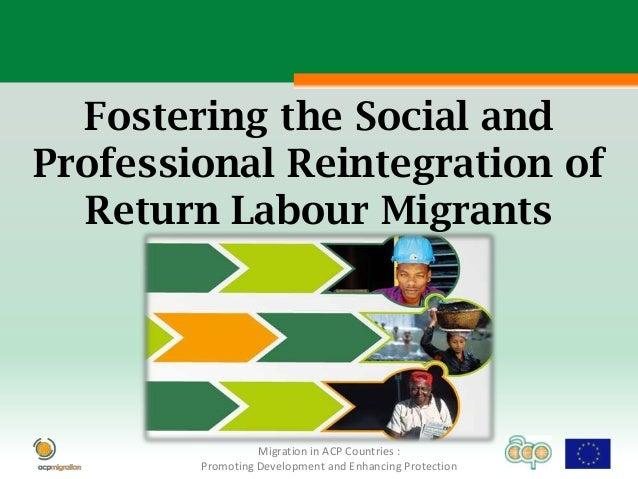 Fostering the social and professional reintegration of return labour migrants en 2