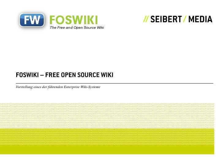 Foswiki Präsentation von Martin Seibert