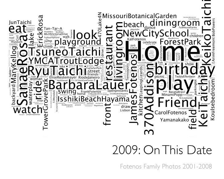 Fotenos Family Calendar 2009