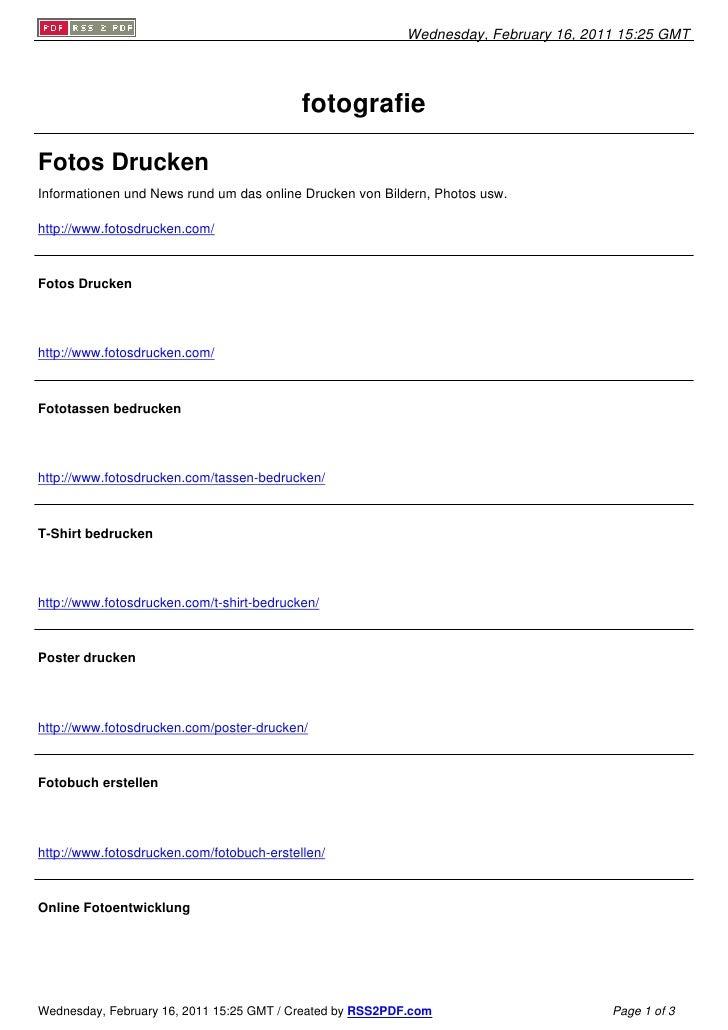 Wednesday, February 16, 2011 15:25 GMT                                           fotografieFotos DruckenInformationen und ...